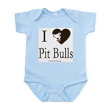 I Heart Pit Bulls Body Suit