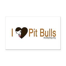 I Love Pit Bulls Rectangle Car Magnet