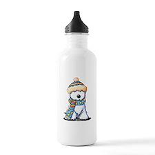 Winter Whimsy Westie Water Bottle