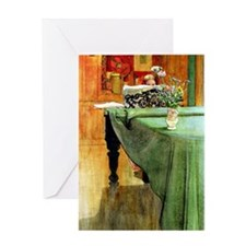 Brita at the Piano, painting by Carl Greeting Card