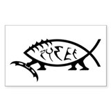 Klingon Fish Rectangle Decal