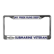 Submarine Veteran Dolphins License Plate Frame
