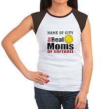 Personalize Softball Mom Women's Cap Sleeve T-Shir