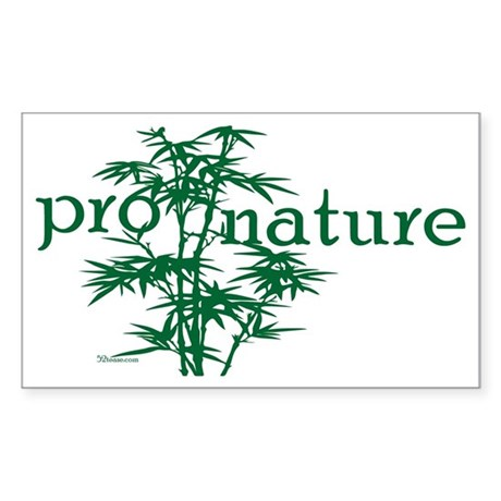Pro Nature Graphic Rectangle Sticker