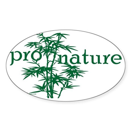 Pro Nature Graphic Oval Sticker