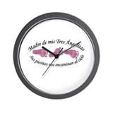 Madre de Tres Angelitas Wall Clock