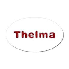 Thelma Santa Fur 20x12 Oval Wall Decal
