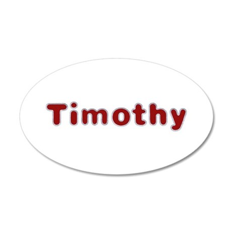 Timothy Santa Fur 35x21 Oval Wall Decal