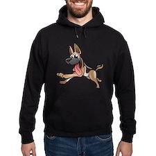 Cartoon German Shepherd Hoodie