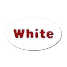 White Santa Fur 20x12 Oval Wall Decal