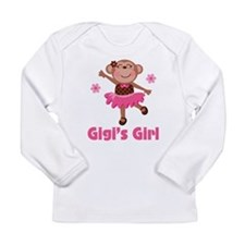 Gigi's Girl monkey Long Sleeve Infant T-Shirt