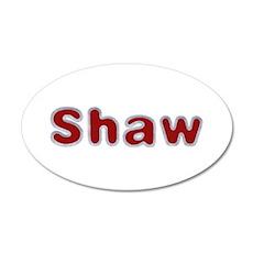 Shaw Santa Fur 35x21 Oval Wall Decal