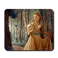 Siver Wood Princess Mousepad
