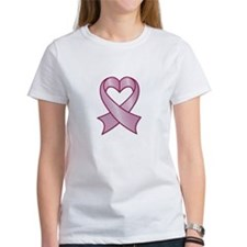 Breast Cancer Ribbon Heart T-Shirt
