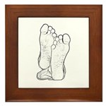 Bare Feet Framed Tile