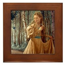 Siver Wood Princess Framed Tile