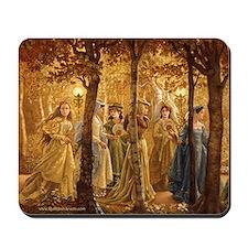 Golden Wood Princesses Mousepad