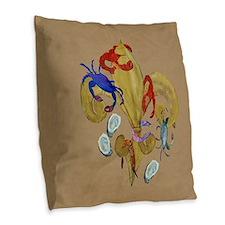 Cajun Fleur de lis Burlap Throw Pillow