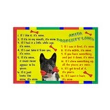 Akita Property Laws 2 Rectangle Magnet (100 pack)