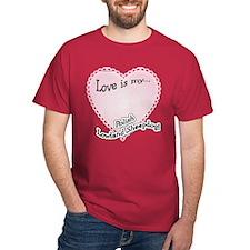 Love is my Polish Lowland Sheepdog T-Shirt