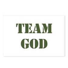 OD green Team God Postcards (Package of 8)