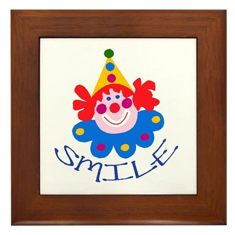 Clown Framed Tile