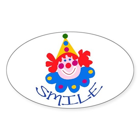 Clown Oval Sticker
