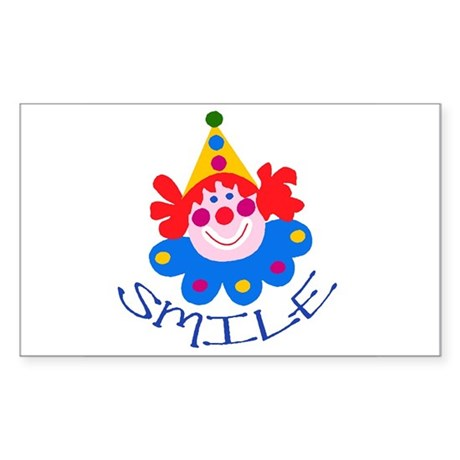 Clown Rectangle Sticker