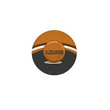 Stylish Custom Basketball Theme Mini Button (10 pa