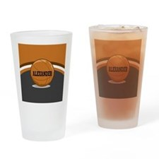 Stylish Custom Basketball Theme Drinking Glass
