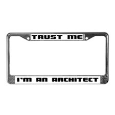 Unique Architect License Plate Frame
