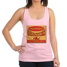 Human Oddities with faded background Racerback Tan