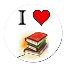 Books Round Car Magnet