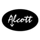 Alcott Oval Bumber Decal