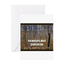 Transplant surgeon BLANKET Greeting Cards