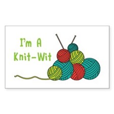 Im a Knit-Wit Decal