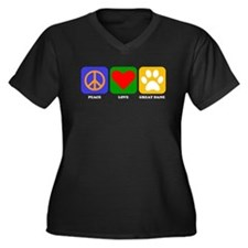 Peace Love Great Dane Plus Size T-Shirt