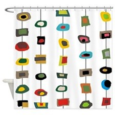 mcm abstract strands 3 Shower Curtain