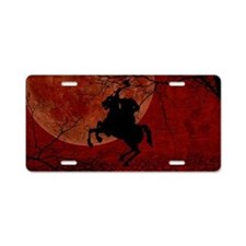 Headless Horseman Aluminum License Plate