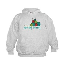 Just Keep Knitting Hoodie