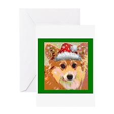Santa Corgi Greeting Card