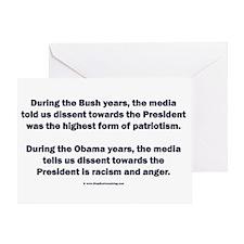 Mainstream Media on Dissent Greeting Card
