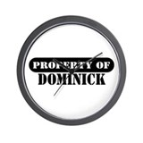Property of Dominick Wall Clock