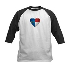 Love North Carolina Flag Heart Tee