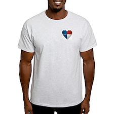 Love North Carolina Flag Heart T-Shirt