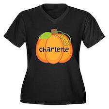 Personalized Halloween Pumpkin Women's Plus Size V