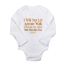 Through My Mind With Dirty Feet Long Sleeve Infant