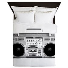 Vintage Boom Box  Queen Duvet