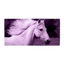 Purple Horse Head Beach Towel