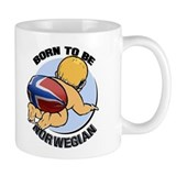 """Born to be Norwegian"" Small Mug"